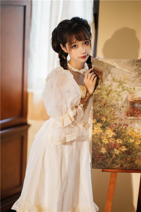 网红coser-蠢沫沫-白裙大小姐[28P/594MB]-宅男团
